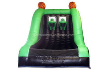 China factory inflatable basketball shootout, inflatable green&black basketball hoop
