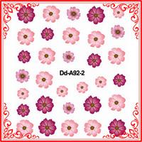 A92 Promotion Gift Elegant Sheets Art 3D Flowers Floral Design Manicure Tips Decals DIY Nail Sticker