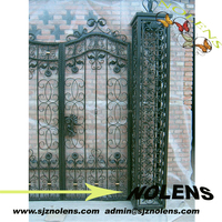 Nolens 2015 Hot Selling Modern Forged Metal Wrought Iron Gate,Iron Gate Grill Designs, Metal Gate