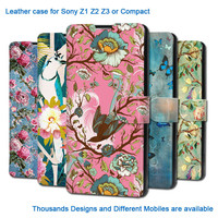 PU leather flip case cover for samsung galaxy s6 edge S4 S5 G9200 fashion design customs own pattens