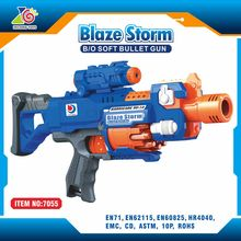ABS Plastic Electric Nerf Sniper Rifle Blue Toy Gun with Nerf Bullets
