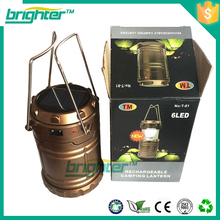 rechargrable camping lantern solar recharger led light