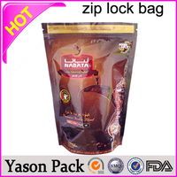 Yason sealed top open bottom ziplock bag zipper bag with write lable herbal smoke ziplock sachet