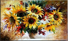 Factory direct sales, Palette Knife Flower Oil Painting,Large families thick oil painting on canvas wall decoration 25954