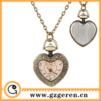 680o New Style Vintage Fashion Rhinestone Heart Necklace Quartz Alloy Pocket Watches With Chain Buy Online Premium Gift