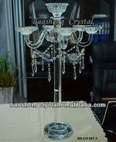 New arrival! Tall Clear Crystal 7 Arms Candelabra Centerpieces Wedding (BS-CH057)