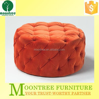 Moontree MEC-1182 High Quality Fabric Pouf Ottoman