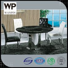 6 8 person large marble top round dining table