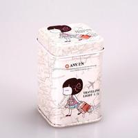 fancy tin box tin money box with lock and key tin pencil box HQTB00036