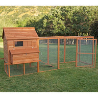 Chinese cheap wooden chicken coop with large run for laying hens