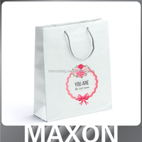 Guangzhou factory beautiful!!! paper bag with glitter for promotion