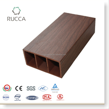 WPC /Wood Plastic Composites Wood Grain Timber Log Tube in Interior Home Decoration from Foshan Rucca100*50(5mm)