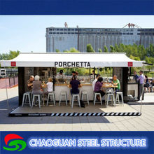 modern prefab modular prefabricated mobile shipping container coffee shop/container store