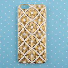 IML transparent clear TPU case for iPhone 6 with gold stamping mobile accessory