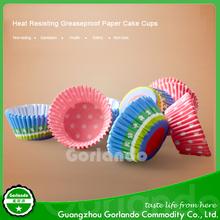 custom greaseproof printed paper baking cupcake