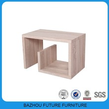 Furniture Fair design wooden G shape coffee table/side table