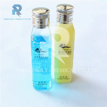 Wholesale charming high quality luxury silver cap hotel shampoo bottles