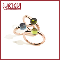 jewelry 24kt gold ring rose gold with high quality