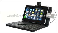 """USB keyboard case and Leather bag for 7"""" Android Tablet"""
