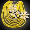 women beautiful China handmade beads jewelry set/ exquisite necklace bracelet earring beads set