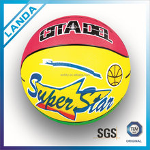 best sell good quality nice looking basketball size 5 rubber