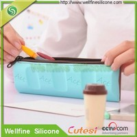 cute chocolate silicone pencil pen case for schlool students