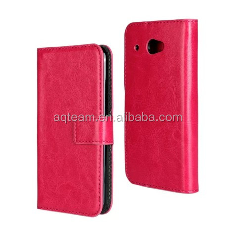 Crazy Horse grain Card slot Wallet PU Leather case For HTC desire 601