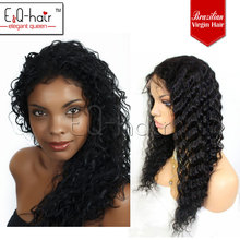 Pre-bonded new fashion brazilian virgin remy hair curly full lace wig