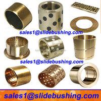 sintered oil copper bearing/split flange oilless brass wrap bush/ sleeve slide bimetal bronze steel bushing china manufacturer