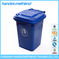 50 liters garbage collection equipment,plastic garbage cans,plastic garbage bin with wheels
