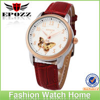 Mechanical watch genuine leather watch wholesale fashion lady vogue watch