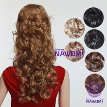 Hot sale 45CM Seven Sets kanekalon natural Hair Extension Piece