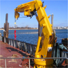 Electric Hydraulic marine deck Telescopic Crane for Sale