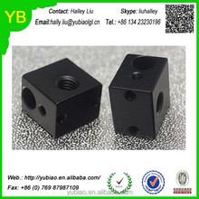 Custom 3D printer accessory DIY Aluminium heater block HotEnd black oxide finish