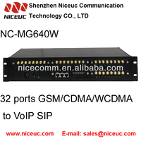 New model Niceuc 32 port SMS gsm voip gateway up to 32 concurrentcalls