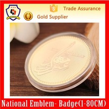 3d engrave souvenir coin, custom rare gold coin with acrylic box, gold coins personalized (HH-souvenir coin-0059)