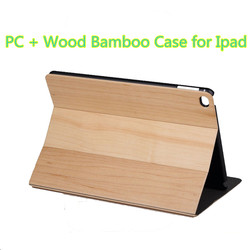 ODM PC Wood Bamboo Cover Protective Case for IPad Flip Stand Protective Case