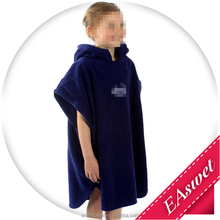 New Children's hooded Navy Boys Girls towel poncho beach swimming
