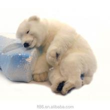 life-like bear for Christmas giant wholesale mini Floppy Polar Bear Cub