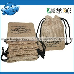 Mini Wholesale Jute Bag, Party Gift Bag Drawstring Hessian Pouch