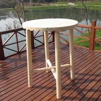 outdoor wooden bar table