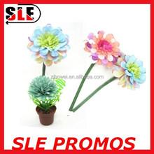2015 hot sale novelty promotion pincushion pot flower top pen