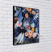 Original design lovely string flower designs canvas painting
