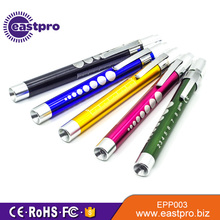Trade assurance logo customized flashlight pen promotional
