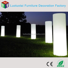 Events decorative lamp led wedding column light up wedding white column for wedding