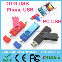 8gb OTG swivel twister usb flash memory New arrival 8gb pendrive Gifts otg usb flash drive for mobile phone