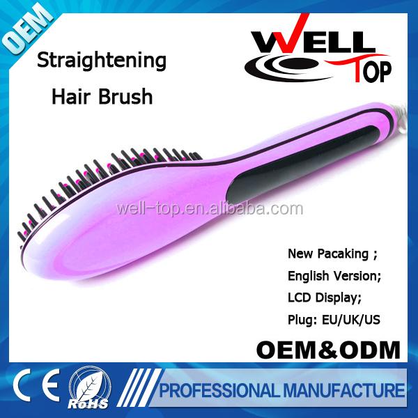 2015 New Hair straightener LCD electric hair straightening comb brush ...