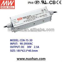 UL CE meanwell 75W 30V LED Power Supply 75w led driver high power led driver