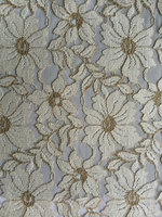 floral pattern lace fabric for lady dress / grament accessories