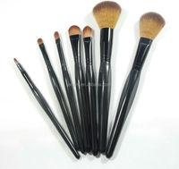 Wholesale 7 Pieces Professional Makeup Brush Set Black Series